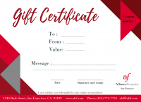 Gift Certificate $385 - Click to enlarge picture.